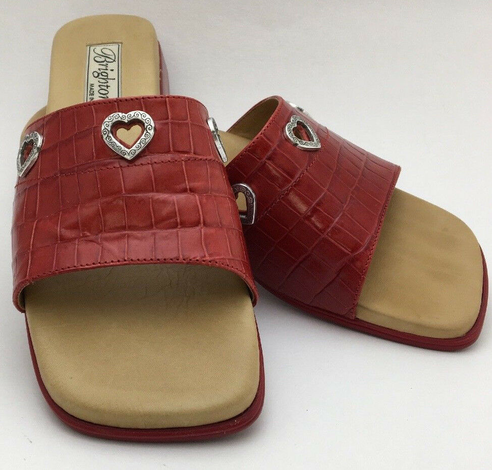 Brighton Red Yoko Red Brighton Croc Slides Size 6 eac629