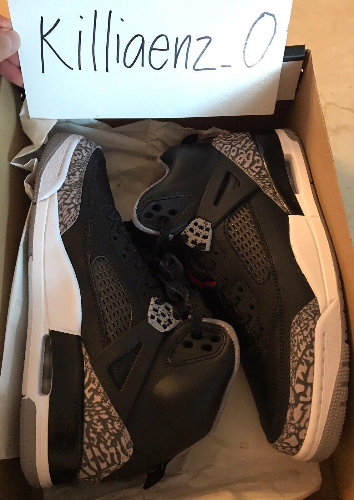 Mens Air Jordan Spizike Off-Court Shoes Black/Varsity Red/Cement Grey 315371 034