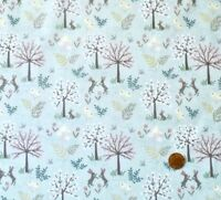 SALISBURY SPRING ON BLUE BY LEWIS & IRENE - COTTON FABRIC FQ'S