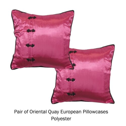 Pair of Oriental Style European Pillowcases 65 x 65 cm