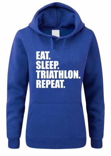 hoodies run thème Femmes Sweat à capuche Vélo Manger dormir triathlon répéter-NATATION