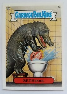 GARBAGE-PAIL-KIDS-6A-SETH-POOL-STICKER-CARD-WITH-PUZZLE-PIECE-GPK-38
