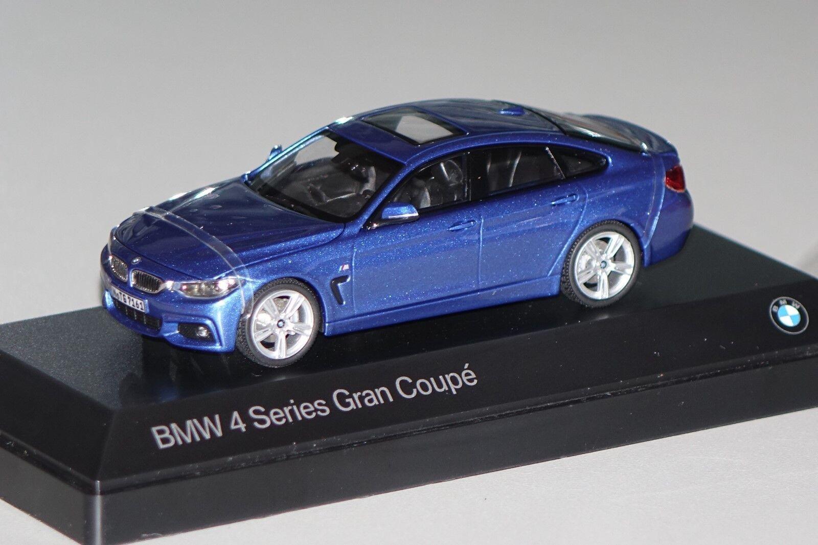 Bmw 4er gran coupé blau traf.1 43 bmw neu + ovp 80422348792