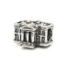 """Authentic Trollbeads Sterling Silver /""""White House/"""" Bead Charm 11306 New"""