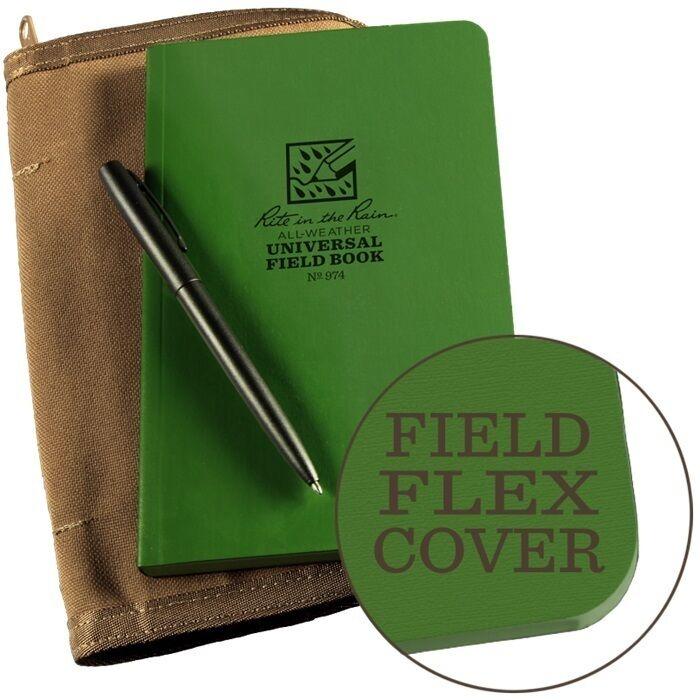 Rite in the Rain 974-Kit All-Weather Universal Bound Book Kit, Green Tan