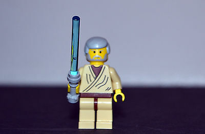7110 AUTHENTIC OLD Grey Hair Lego Star Wars Minifigure Obi-wan Kenobi