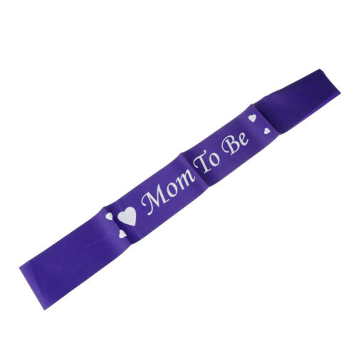 1pcs Satin Sash Mom To Be Baby Shower Party Favor Decor Ribbon Mom To Be Sash vk