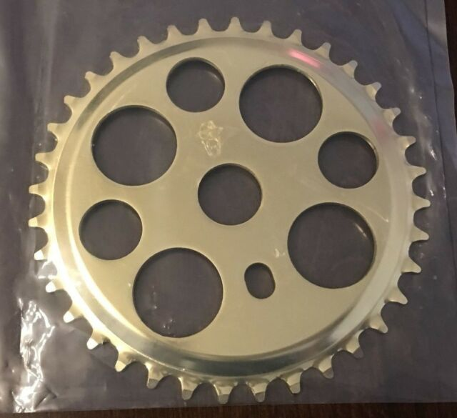 GOLD TWISTED BICYCLE SPROCKET 44T CHAINRING BEACH CRUISER  LOWRIDERS
