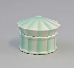 9959199-Porcelain-Container-Art-Deco-Green-Ens-10x7cm