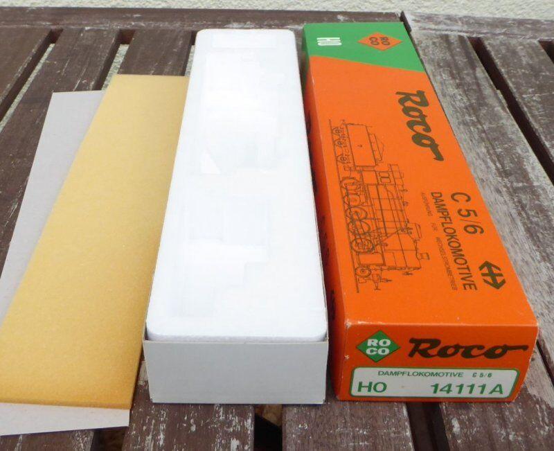 Roco 14111 a Envases Vacíos Locomotora de Vapor C5 6 SBB Br 58 ,Caja, Box,