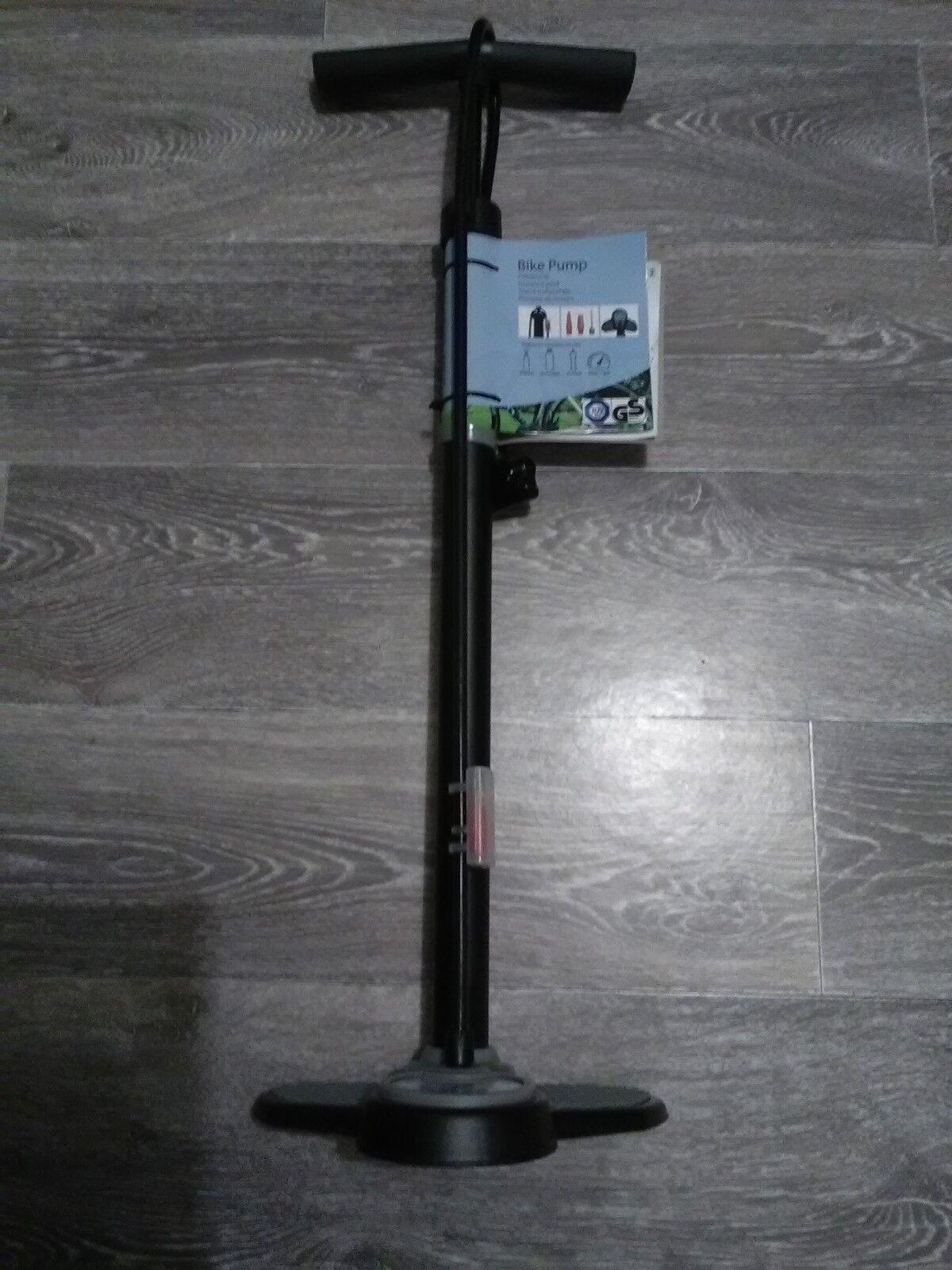 Pompe à pieds avec avec avec manomètre et embouts NEUVE bike pump 2f9aaf