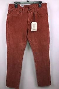 Nuevo Levi Strauss 511 Slim Fit Rojo Pantalones De Pana Para Hombre 34x34 B57 Ebay