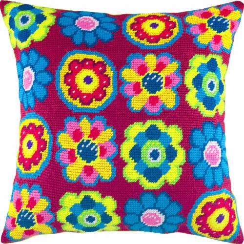 "Needlepoint//Tapestry Pillow Cover DIY Kit /""Fantasy/"""