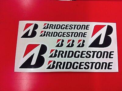 6 Adesivi BRIDGESTONE BATTLAX vari formati sponsor moto auto