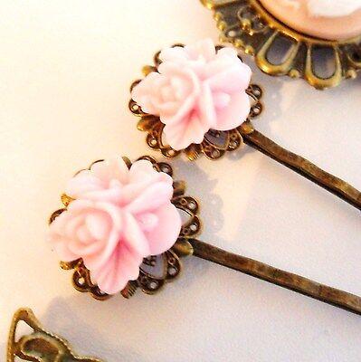 Rose Ultra Hair Pins Grips Clips & Slides Vintage Accessories Wedding Flower