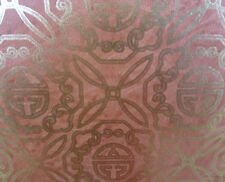 Gold Foil Wallpaper Burnt Orange Oriental Scroll Wallquest AA1861 DOUBLE ROLL
