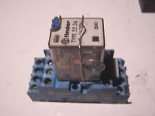 Relay Relais FINDER type 55 34 support 94.74  commande 24VDC