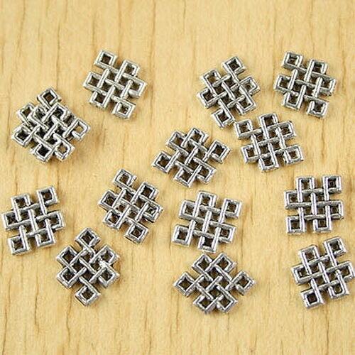 60pcs Tibetan Silver Diamond Connecteurs h2629