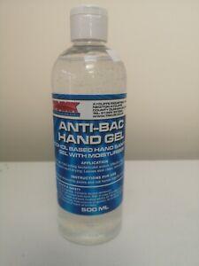 Antibacterial Hand Sanitiser Gel 500ml Anti Bac Alcohol Based Sanitising