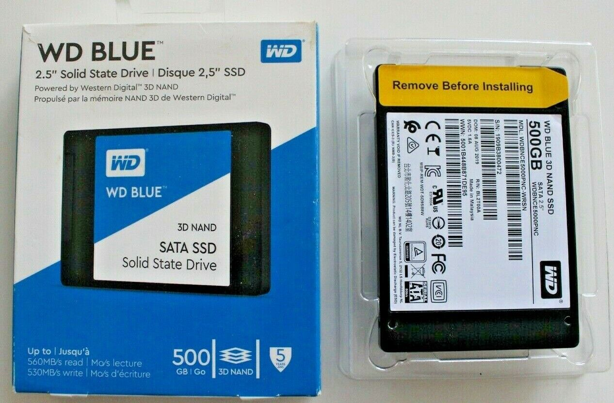 WD - Blue 500GB Internal SATA Solid State Drive. Buy it now for 49.95