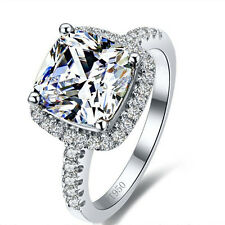 3 CT ROUND CUT DIAMOND SOLITAIRE ENGAGEMENT RING WHITE GOLD Finish Size 6.5