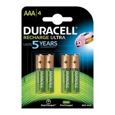 4 Pack Duracell AAA NiMH Rechargeable Batteries Duralock Pre/Stay Charged 900mAh