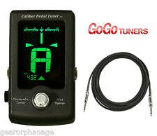 GoGo Caliber Chromatic Pedal Guitar Tuner + BONUS 10 Foot Cable! Go Go *NEW*
