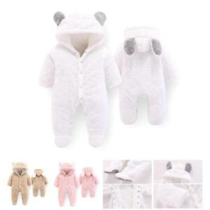 988d1b11664 Newborn Baby Clothes kids Hooded Winter Warm Jumpsuit Thick Overalls ...