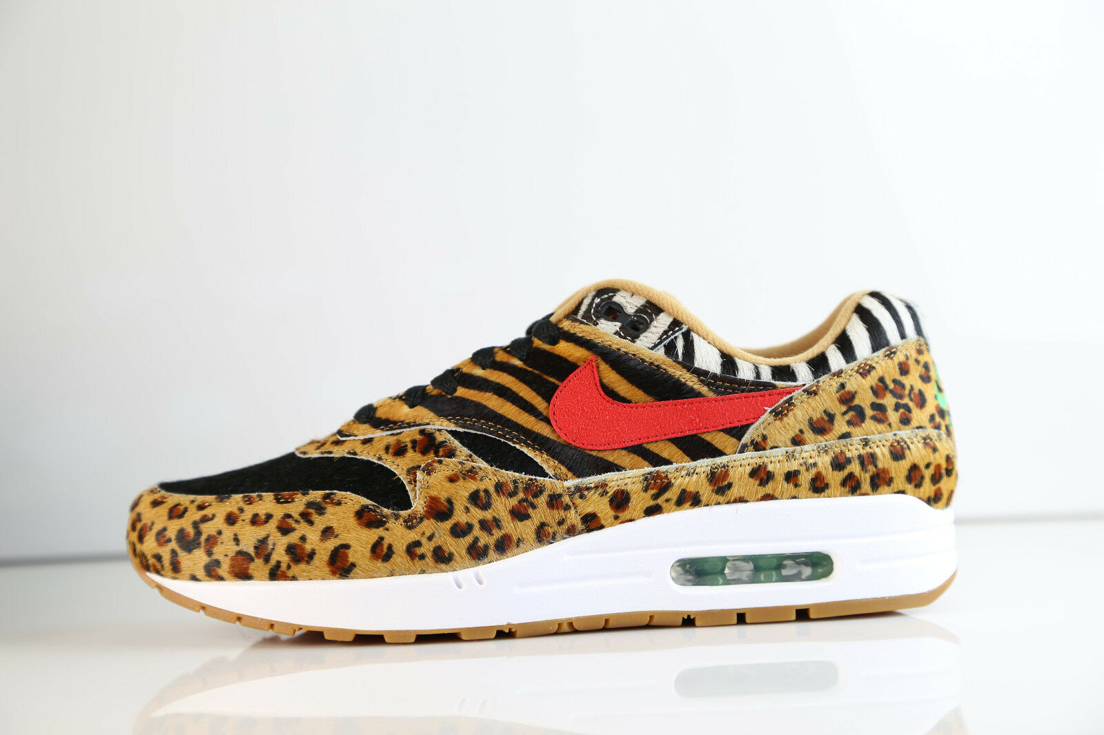 Nike Air Max 1 DLX Animal Atmos Wheat Sport Red AQ0928-700 8-11.5 90 1 3