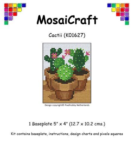 MosaiCraft Pixel Craft Mosaic Art Kit /'Cactii/' Pixelhobby