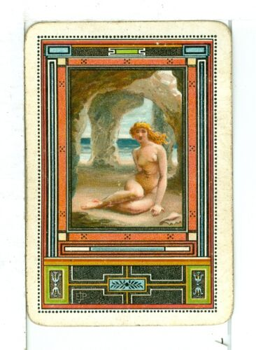 """Single Playing Card Vintage Antique Poynter Art Listed as /""""PO-13-4 A/"""""""