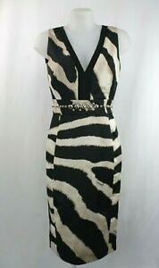 Just-Cavalli-Zebra-Black-And-White-Print-Shift-Dress-Size-12-UK-40-EU-8-US