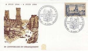 FRANCE-1984-40th-ANNIVERSARY-OF-D-DAY-CAEN-special-cancel