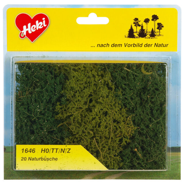 Heki 1646 H0/TT/N Naturbüsche, 20 Stück ++ NEU & OVP ++