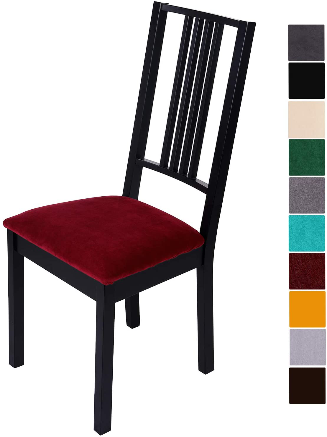Washable Removable Soft Chair Seat C Homaxy Velvet Dining Room Chair Seat Cover