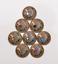 Antique-Brass-Southeast-Ethnic-Indian-Head-Turquoise-Leathercraft-Belt-Conchos miniature 12
