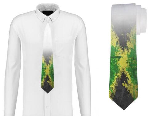 Bandera de Jamaica Jamaica Pintado Corbata para hombres personalizados D37-2