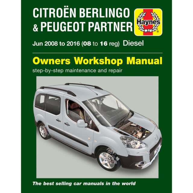 haynes 6341 manual citroen berlingo peugeot partner diesel 08 june rh ebay co uk citroen berlingo van service manual Citroen Berlingo Van Seat Covers