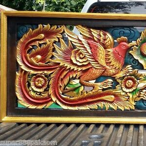 myyntipisteiden myynti katsella jaloissa Details about Red Dragon Phoenix Wood Art Carving Home Wall Sculpture Panel  Decor 15
