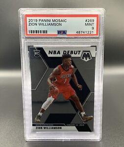 Zion Williamson *PSA 9* RC 2019 Panini Mosaic #269 New Orleans Pelicans NBA