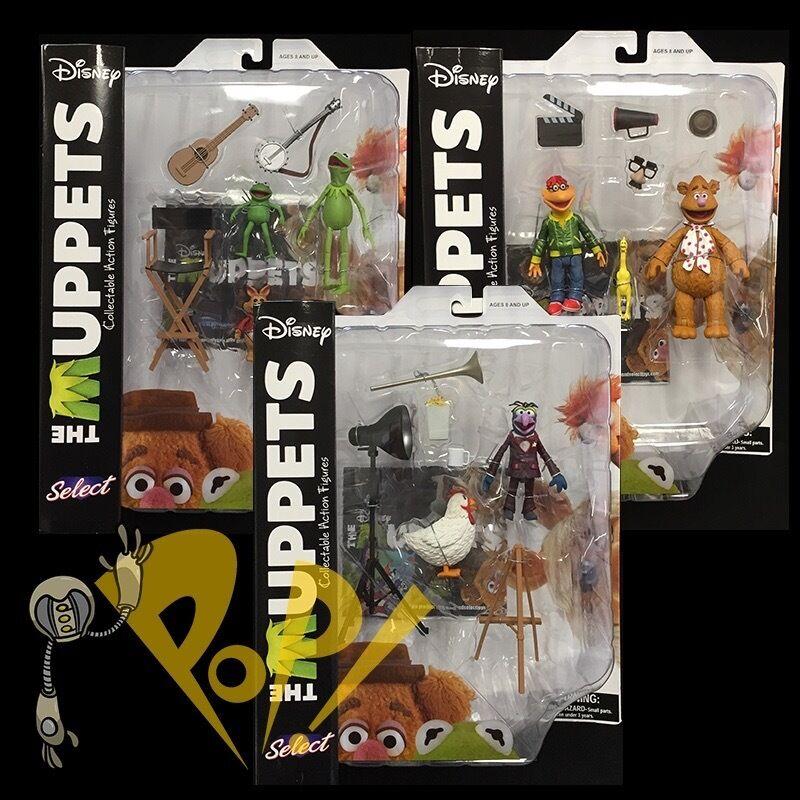 Muppets wählen, reihe 1 set kermit fozzie roller gonzo & more action - figuren.