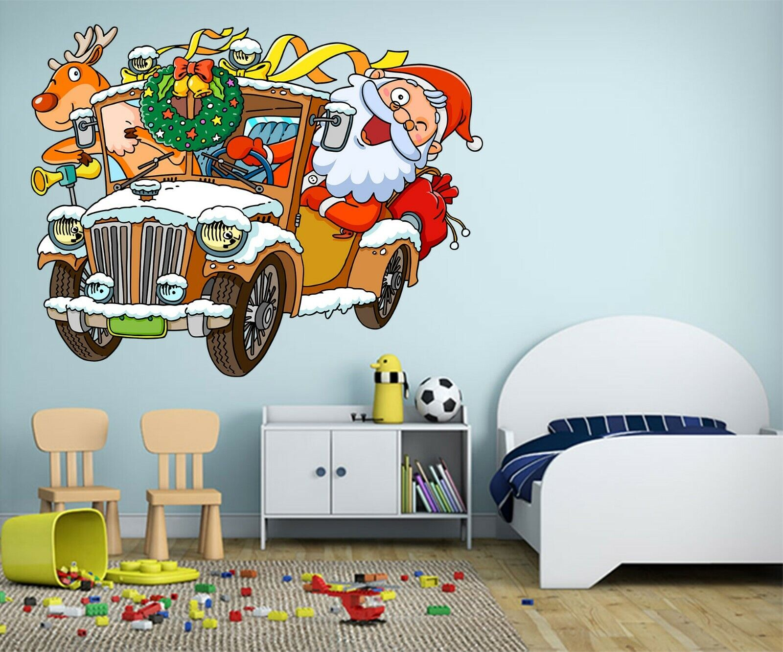 3D Santa Claus N522 Christmas Wallpaper Murals Wall Print Decal Wall Sticker Am