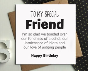 Funny birthday card best friend gift idea wine gin rude comedy silly image is loading funny birthday card best friend gift idea wine m4hsunfo