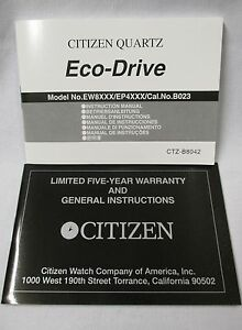 citizen eco drive ew8xxx ep4xxx cal b023 watch instruction manual rh ebay co uk citizen eco drive e820 instruction manual citizen watch eco drive instruction manual