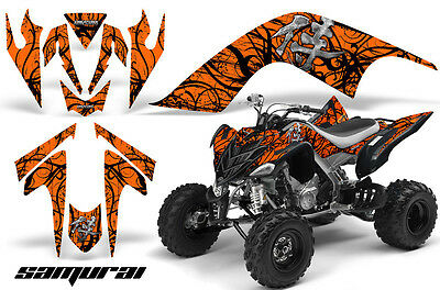 YAMAHA RAPTOR 700 06-12 GRAPHICS KIT CREATORX DECALS SPIDERX PURPLE