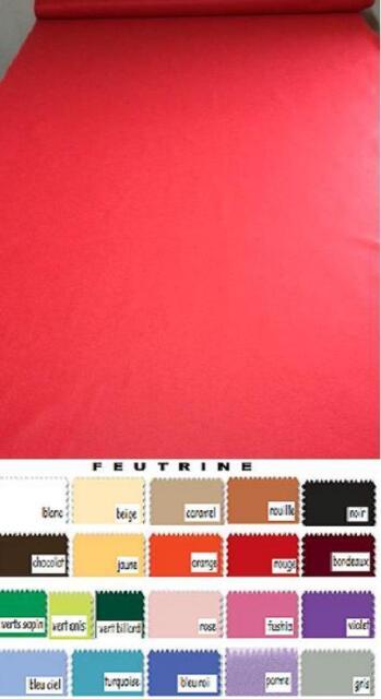 Tapis FEUTRINE décoration mariage eglise cinema au mètre largeur 90 cm 21 colori