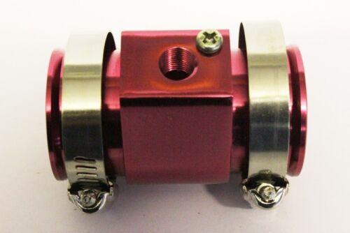 Nouveau rouge 34 mm Jauge De Température D/'eau Tuyau Radiateur Rad tuyau connecteur capteur adaptateur,