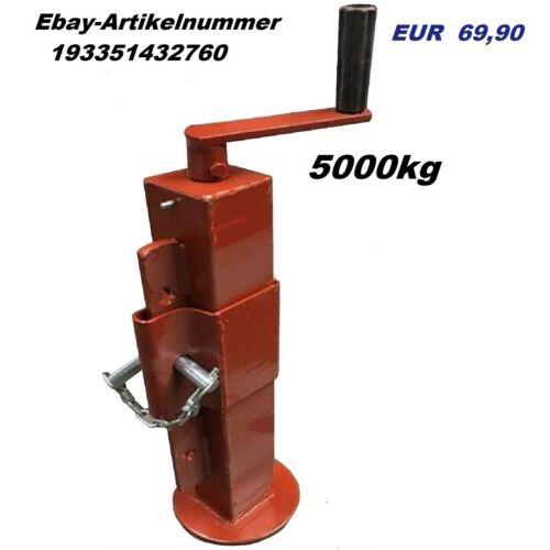 Anhängerstützen Stützfuß Anhänger//Kipper Anhängerstütze 1000 kg mit Kurbel