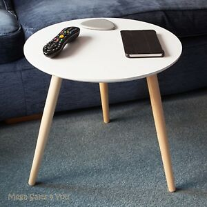 Image Is Loading Scandinavian Small Side Table Round Wooden Coffee Tea