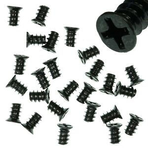 Pack-of-25-5x8mm-Black-PC-Fan-Screws-Computer-Case-Chassis-80mm-120mm